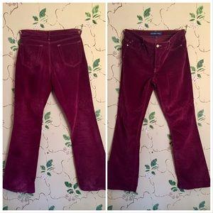 Vintage Red Velvet Pants